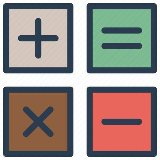 accounting, calculating, calculator, education, mathematics icon