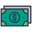 cash, dollar, finance, investment, money icon