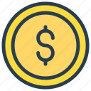cash, dollar, finance, income, money icon