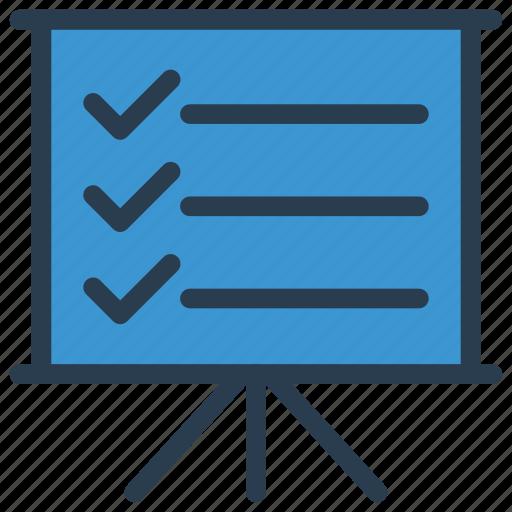 board, checklist, presentation, teaching, training icon