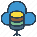 cloud, database, mainframe, server, storage icon