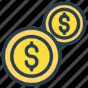 cash, coin, dollar, investment, money