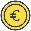 cash, coin, euro, finance, money icon