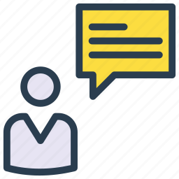 account, comment, message, profile, user icon