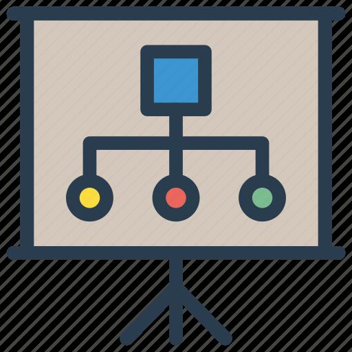 board, diagram, hierarchy, presentation, structure icon