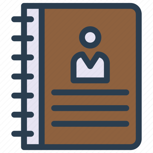 book, contacts, directory, phone, reading icon