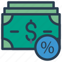 cash, discount, dollar, finance, money icon