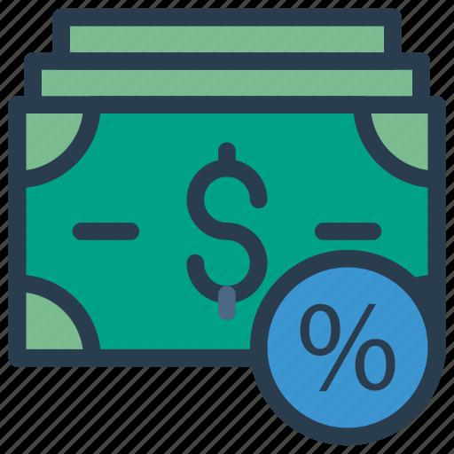 cash, discount, dollar, finance, money icon