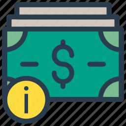 cash, error, finance, money, warning icon