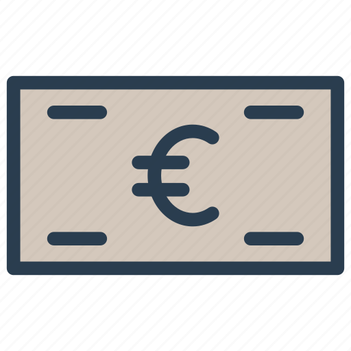 cash, earning, euro, finance, money icon