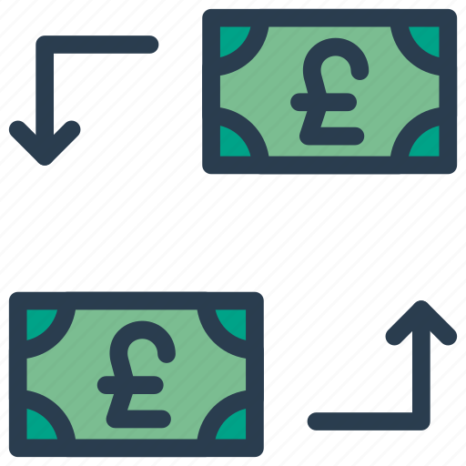 currency, dollar, exchange, finance, transfer icon