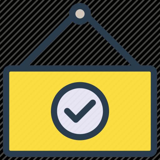 board, check, complete, frame, tick icon