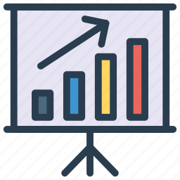 chart, graph, growth, increase, presentation icon