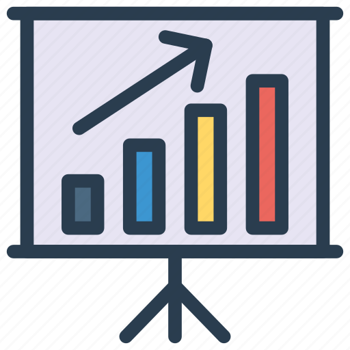 chart, graph, growth, increase, presentation icon