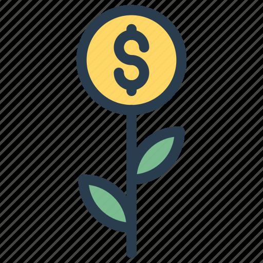 cash, dollar, growth, increase, success icon