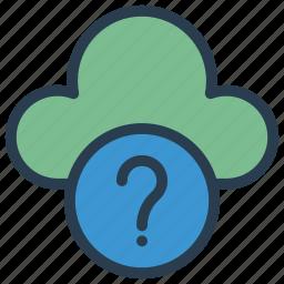 cloud, help, question, server, storage icon