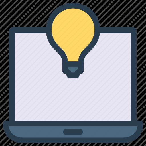 computer, creativity, idea, laptop, notebook icon