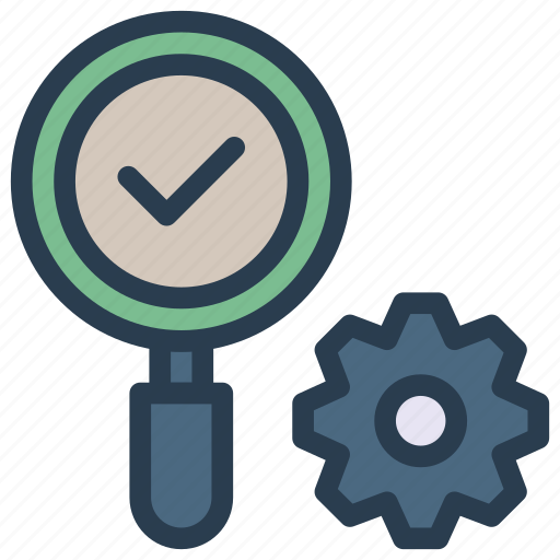 configure, find, glass, magnifier, setting icon