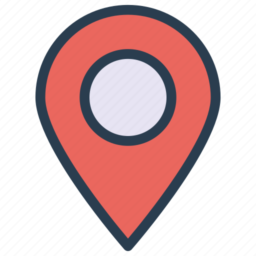 gps, map, marker, pin, pointe icon