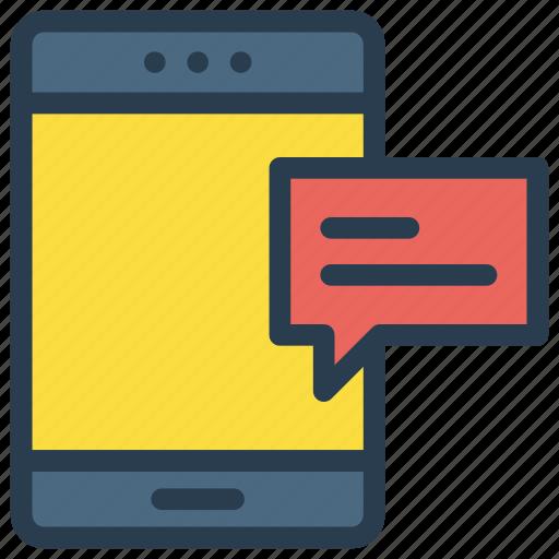 bubble, device, message, mobile, phone icon
