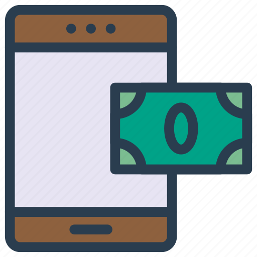 device, mobile, online, pay, phone icon