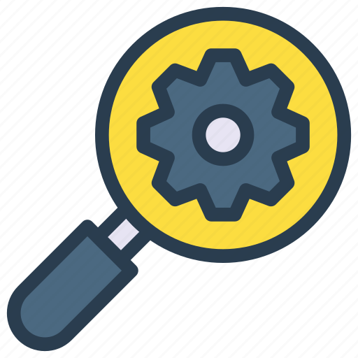 configure, glass, magnifier, preference, search icon