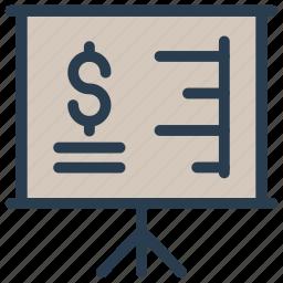 board, chart, graph, office, presentation icon
