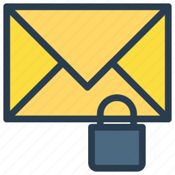 lock, mail, message, private, protection icon