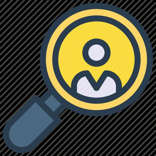 account, magnifier, profile, search, user icon