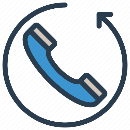 call, mobile, phone, refresh, reload icon