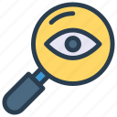 eye, look, magnifier, review, search icon