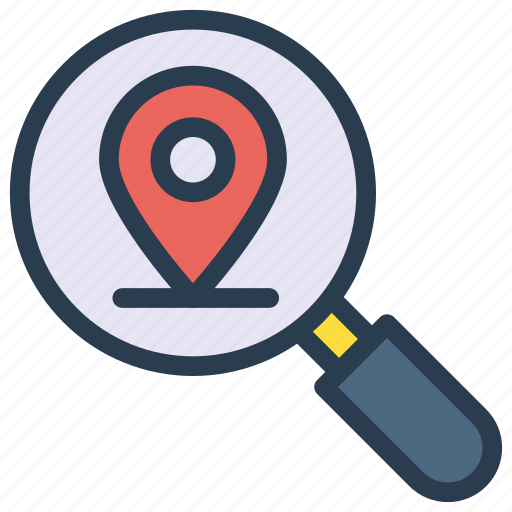 Find, magnifier, map, pin, search icon - Download on Iconfinder