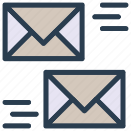 envelope, letter, mail, message, sending icon
