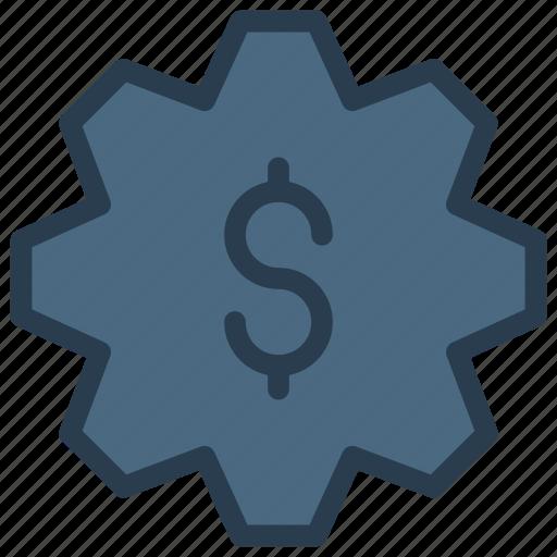 configure, dollar, gear, money, setting icon