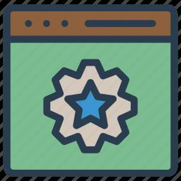 configure, internet, setting, webpage, window icon