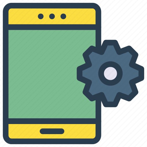 configure, gear, phone, preference, setting icon