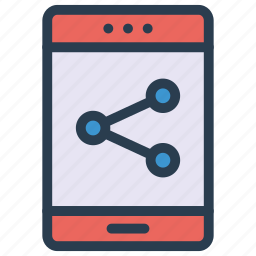 connection, mobile, network, phone, share icon