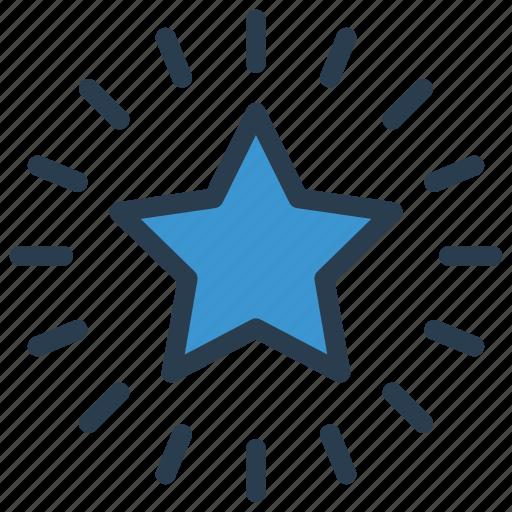 achievement, grade, rand, star, success icon