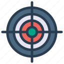 achievement, aim, focus, goal, target icon