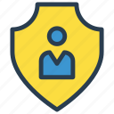 account, protection, secure, shield, user icon
