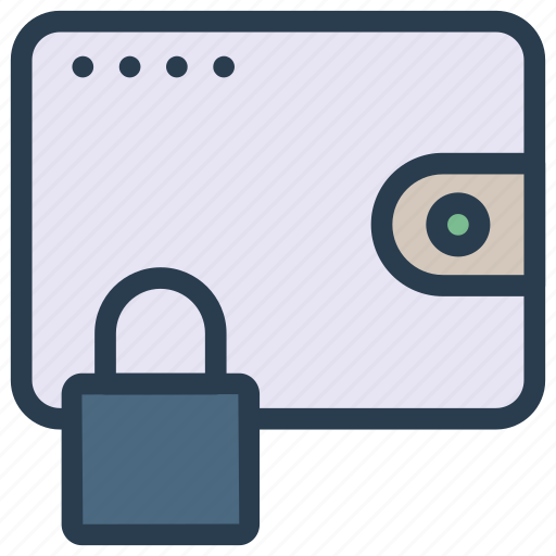 lock, protection, purse, saving, wallet icon