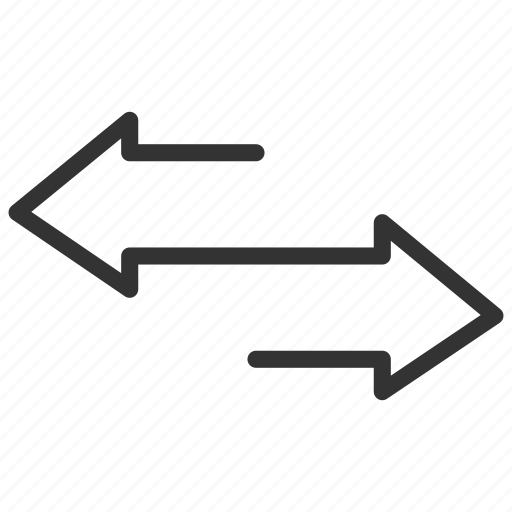 arrow, back and forward, business icon