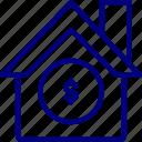 house, money, warehouse, storage, property, finance, bukeicon
