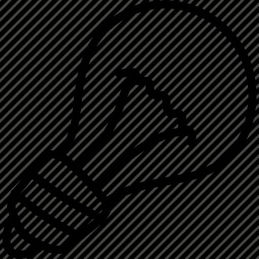 clever, creative, idea, lightbulb icon