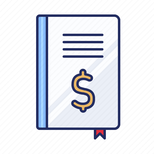 accounting, book, budget icon
