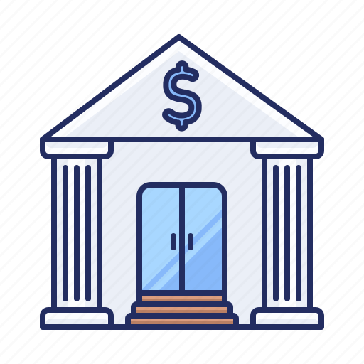 bank, dollar, finance icon