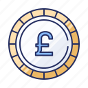 coin, currency, lb icon