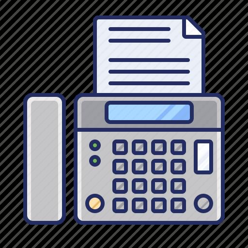 fax, fax machine, office icon