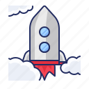 launch, rocket, startup icon
