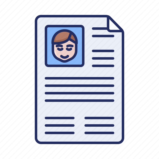 cv, profile, resume icon